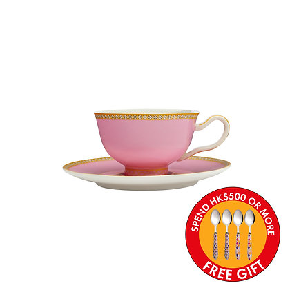 Maxwell & Williams Teas & C's Kasbah Classic Footed Cup & Saucer 200ML Hot Pink