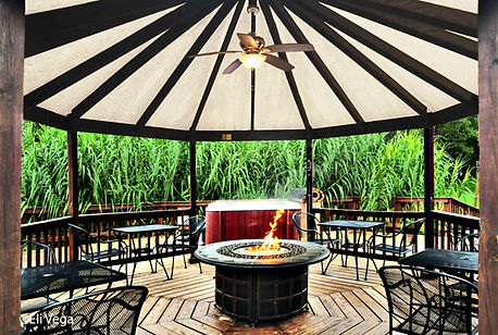 Firepit and Jacuzzi