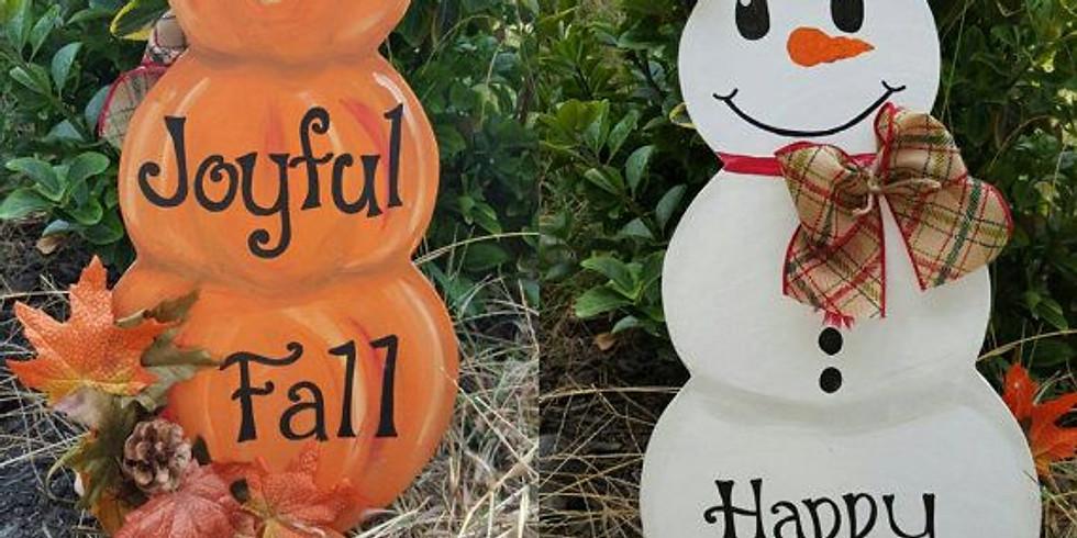 Stacked Pumpkin Flip Sign