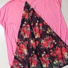 Short Sleeve Top with Floral Detail