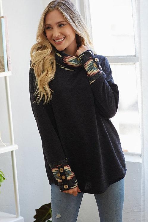 Sweater W/ Aztec detail