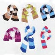 Assorted Colorblock Knit Scarf