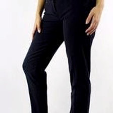 Straight Cut Pants with Front Pockets