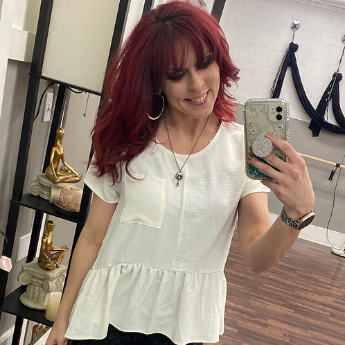 White babydoll style Top