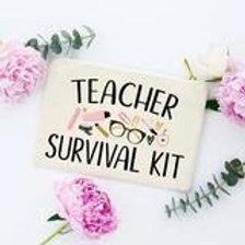 Teacher Survival Kit Make-up Bag