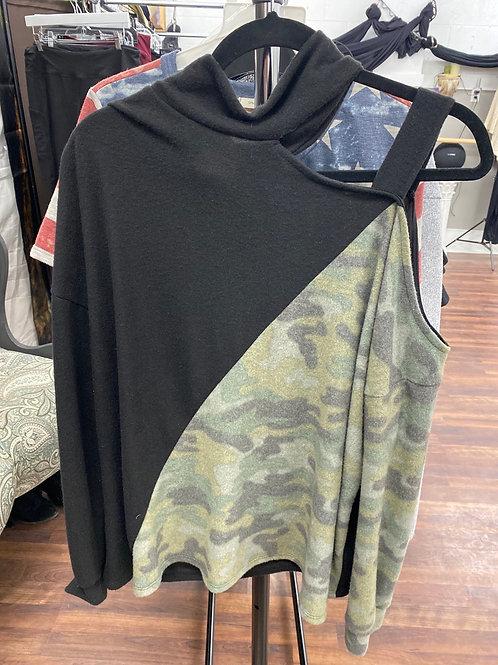 BiBi Brand Cold Shoulder Top