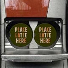 Place Latte Here Coasters on the Go