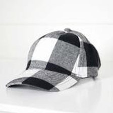 Black and White Plaid Hat