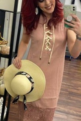 POL Dress, Lace Bottom