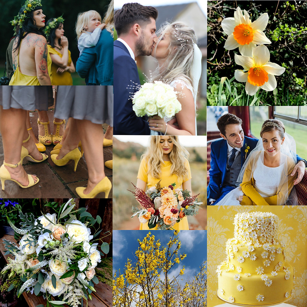 Yellow Wedding Moodboard