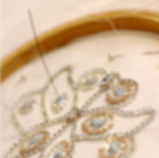 Hand stitched wedding bridal hair accessory from Glorious by Heidi