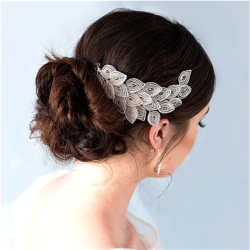 Art Deco Peacock Tail Wedding Accessory