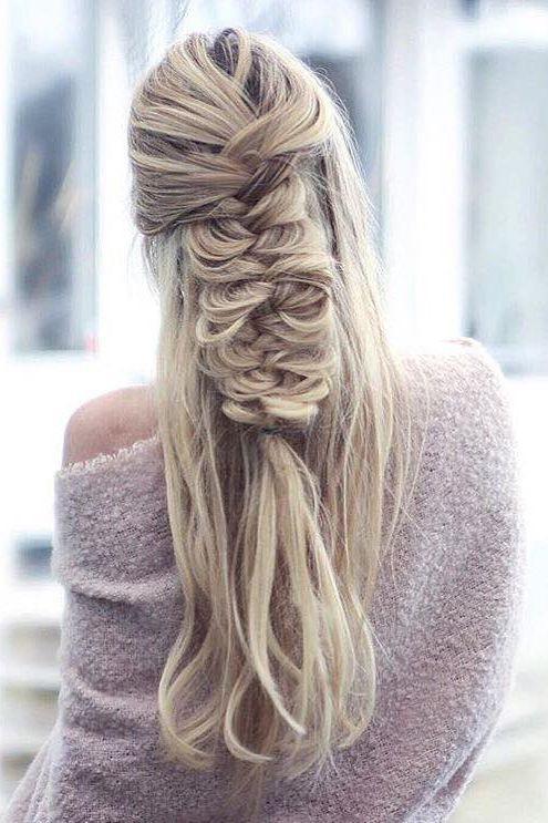 fishtail bridal braid wedding hair