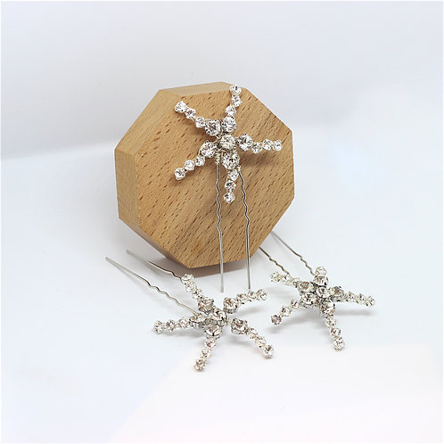 Pandora || Sparkly Star Hair Pins (x3)