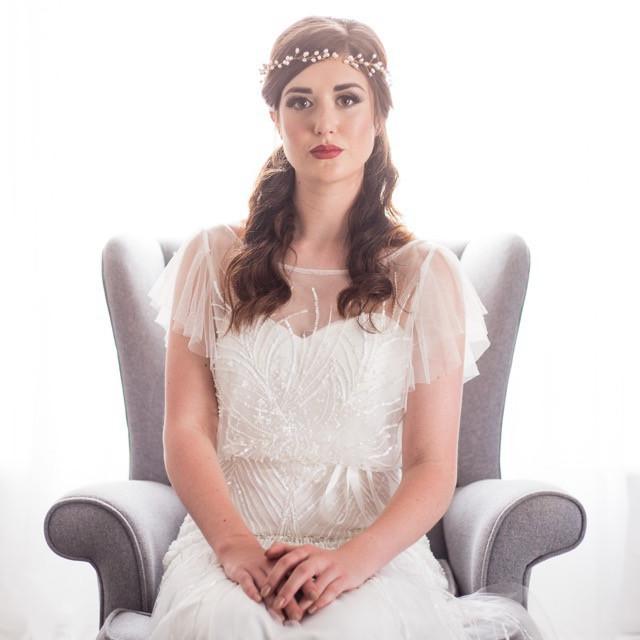 Pearl bridal hair vine. Wedding hair accessories Cheshire