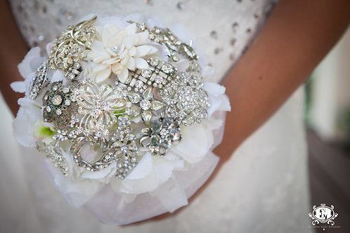 Crystal Brooch Bridal Bouquet
