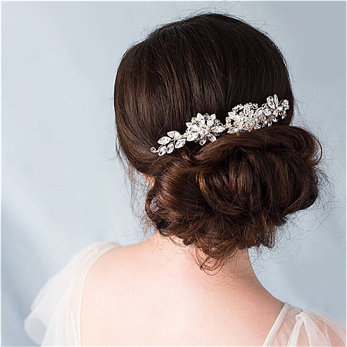 Large Swarovski Crystal Wedding Hair Comb Cheshire Bride