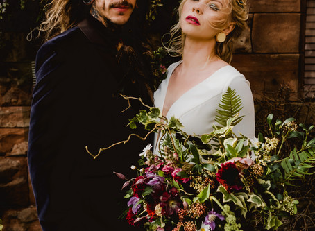 Modern Medieval - Deliciously decadent wedding styling inspiration at Peckforton Castle, Cheshire.