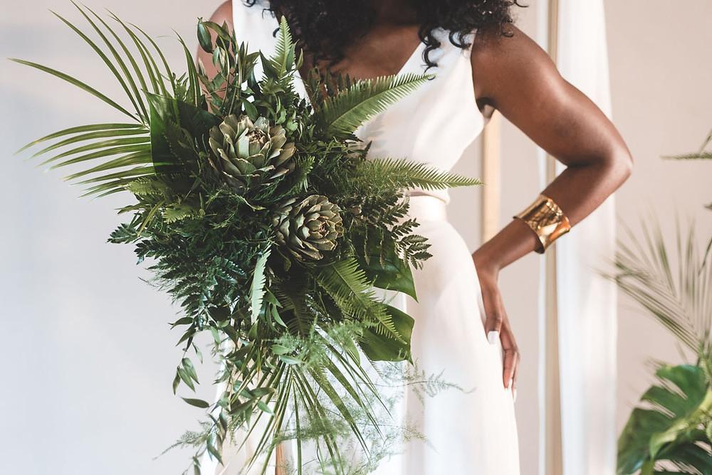 Green Fern Bridal Bouquet