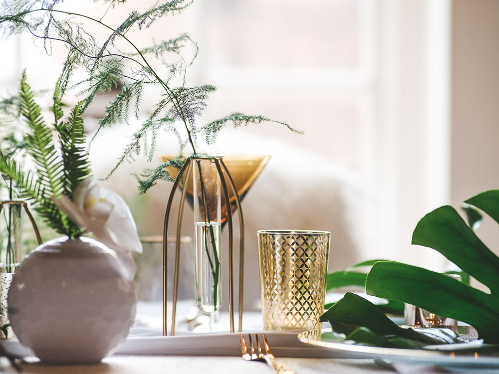 Wedding Table Setting Chic City Style