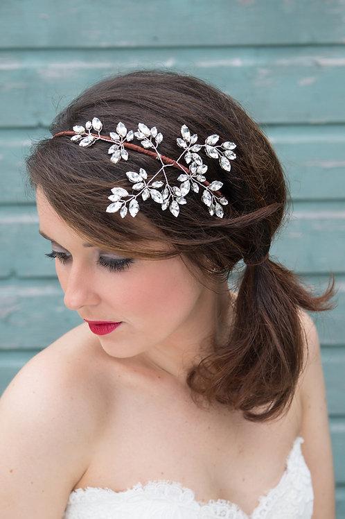 Ava sparkly Swarovski Crystal bridal headpiece