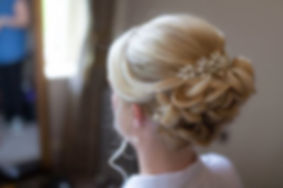 Real Cheshire bride wearing Glorious by Heidi handcrafted crystal hair comb