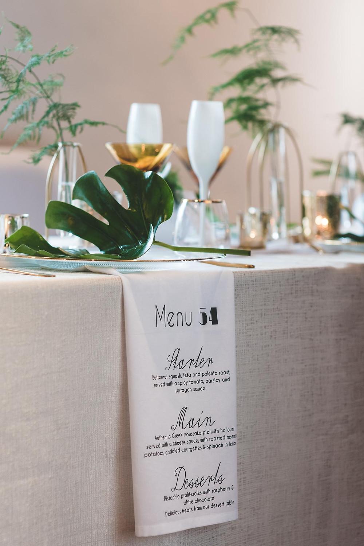 Wedding Napkins Menus