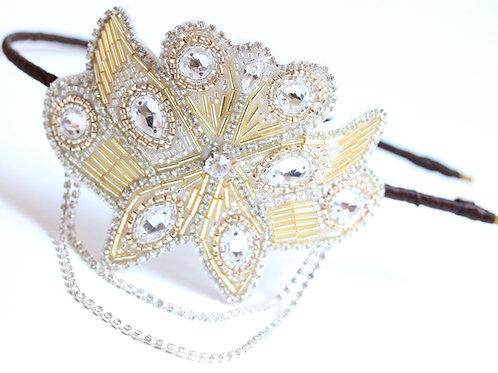Glamorous Art Deco Gold Silver Crystal Bridal Hair Accessory Cheshire