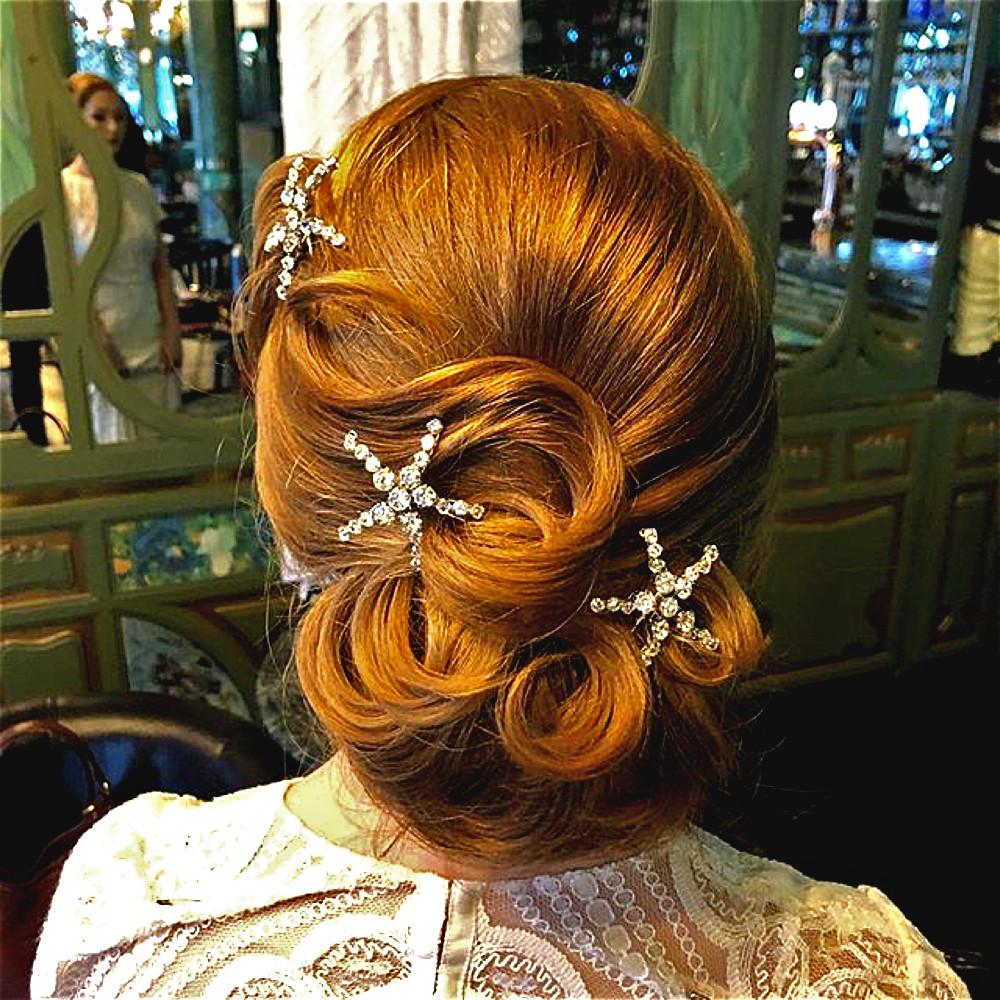 Star hair pins. Wedding hair accessories Glorious by Heidi Cheshire