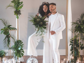 Studio 54 Jumpsuit Inspired City Chic Wedding