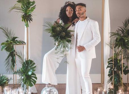 Studio 54 Jumpsuit Inspired City Chic Wedding