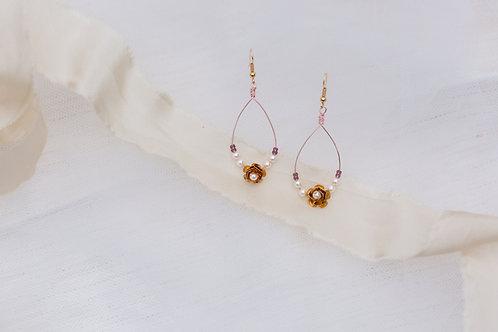 Orla || Golden Princess tear drop earrings