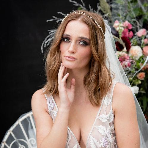 Kryssy || Gold Crystal Wedding Tiara