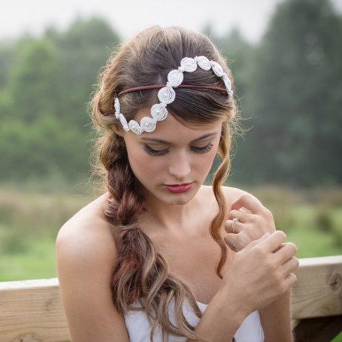 Amelie pretty hand beaded bridal hair accessory
