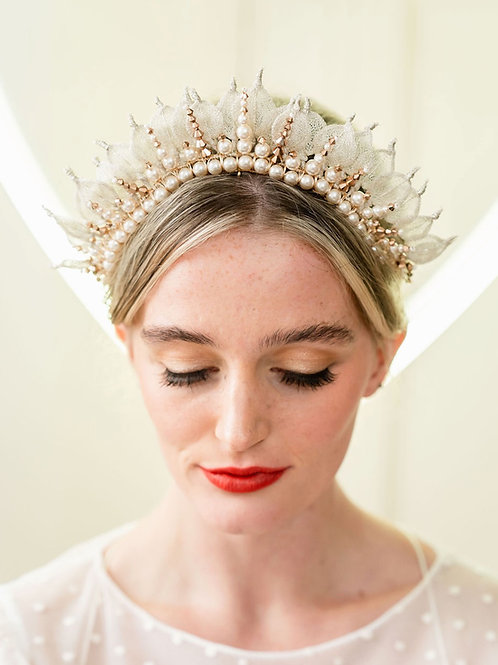 Statement Silver and Gold Bridal Crown Cheshire Wedding Accessories