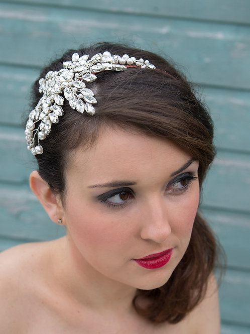 Large Crystal Bride Headpiece Cheshire