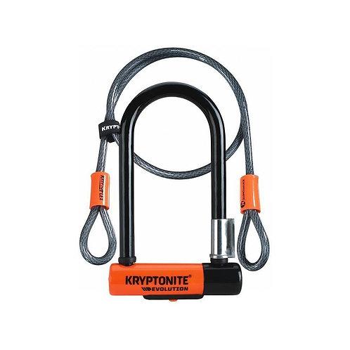 """Kryptonite - Evolution™ Mini 7"""" U-Lock + Cable"""