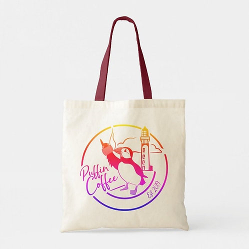 Puffin Coffee Canvas Tote