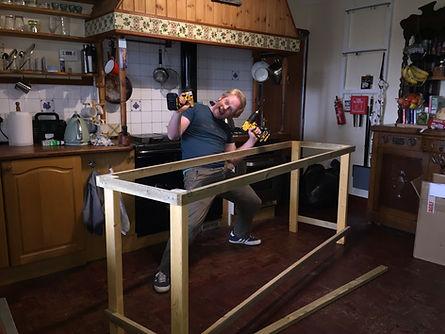 Constructing the worktops
