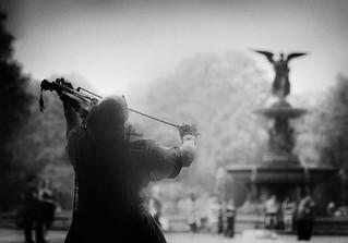 Serenading an angel