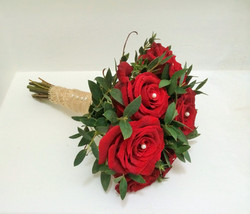 Rose and Pearl Bridesmaid bouquet