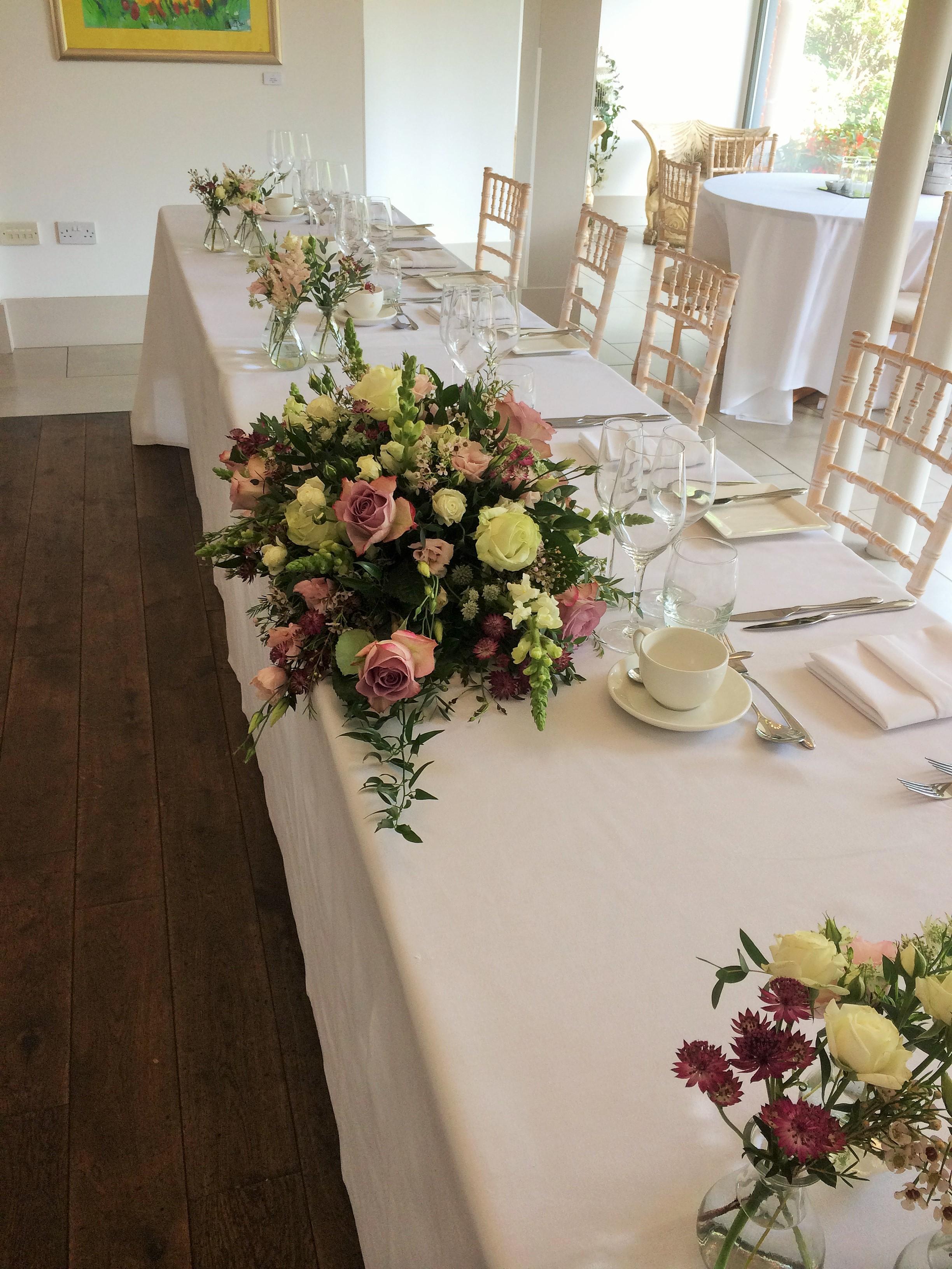 Large Top Table Arrangement