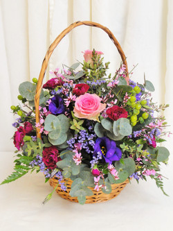Pretty Pastels Flower Basket