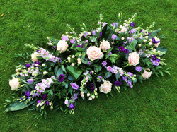 Pink and Lilac Casket Spray