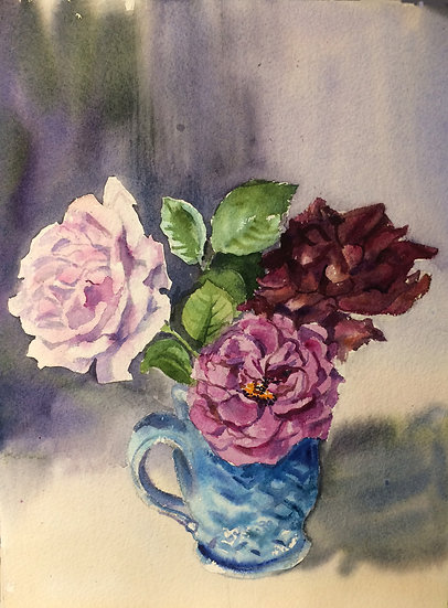 Three Roses in a Cup