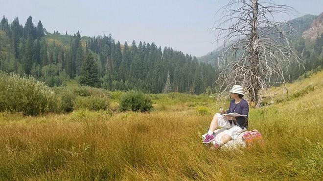 Pamela Casper in Big Cotton Wood Canyon,