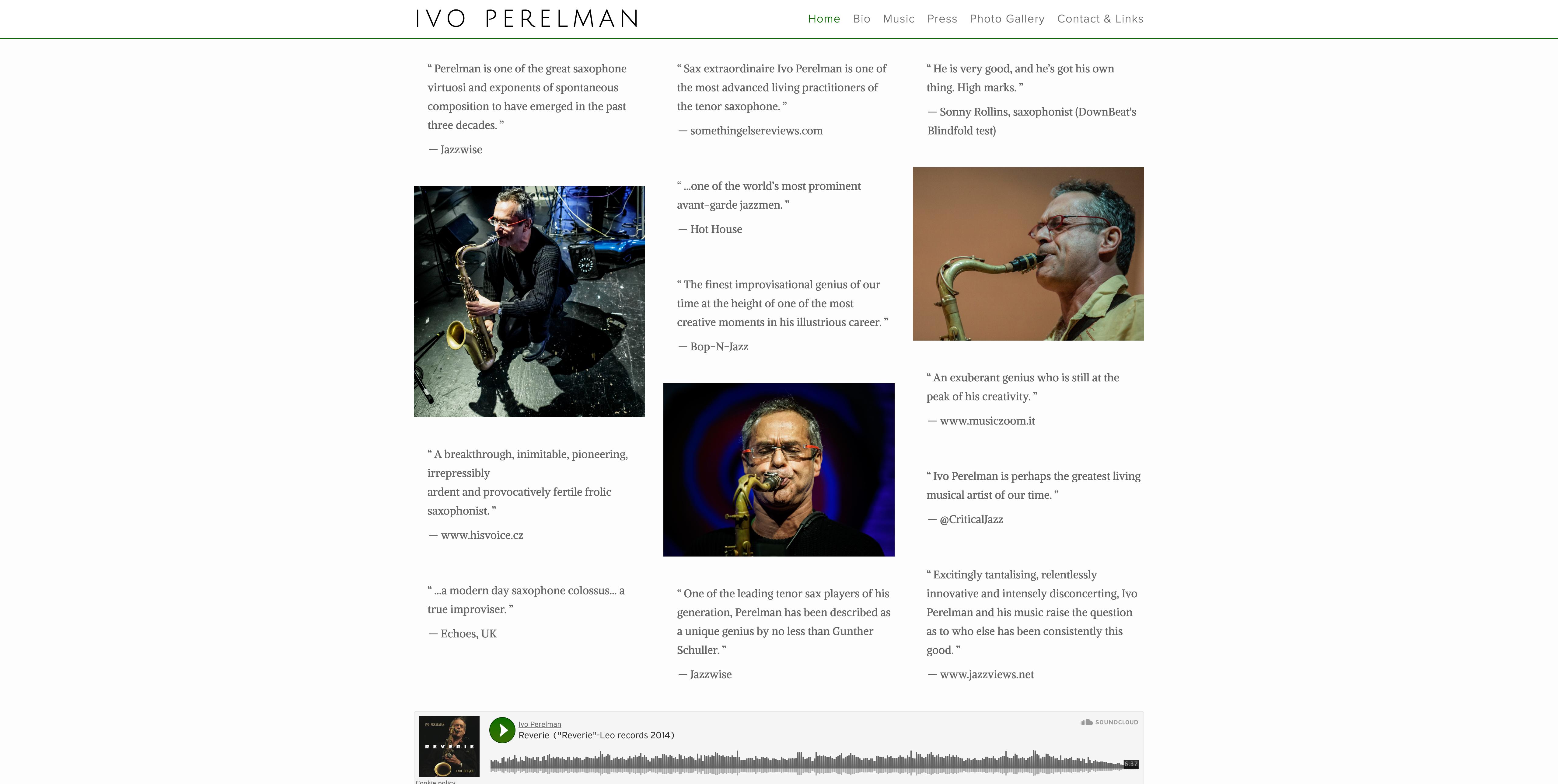 Ivo Perelman - Musician