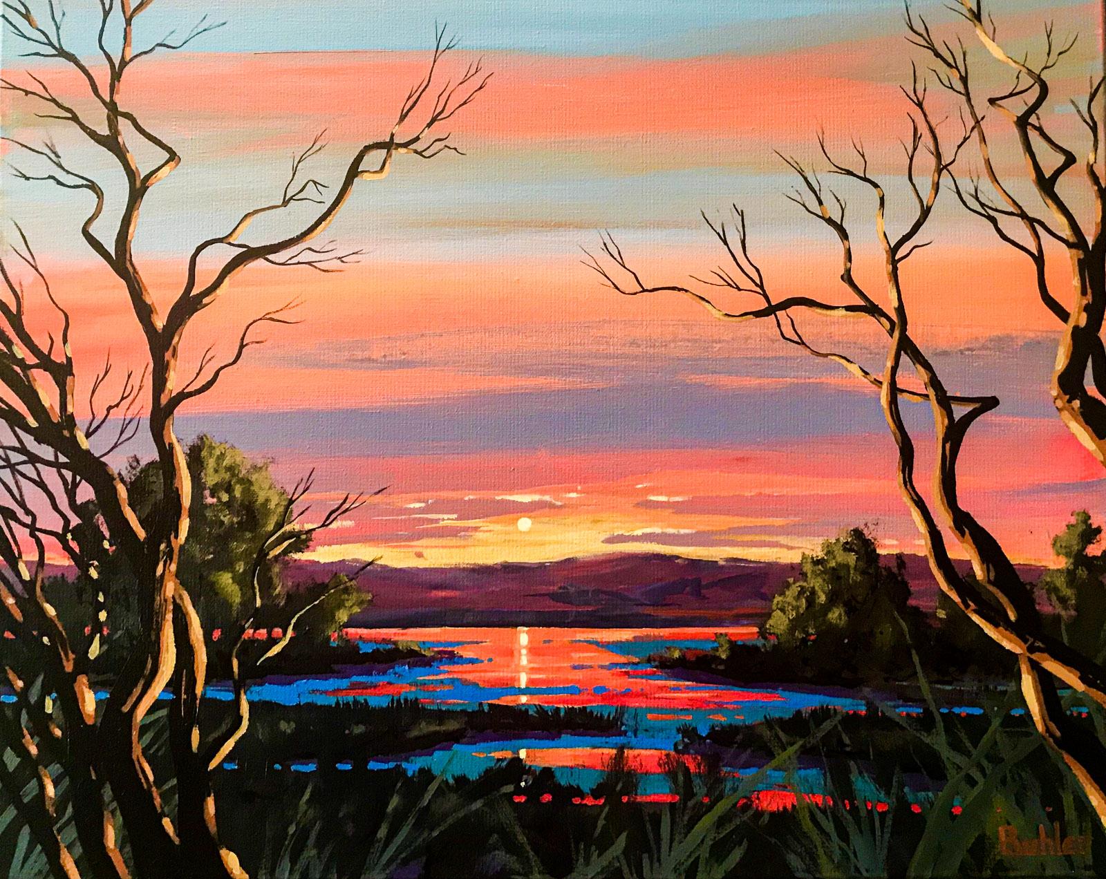 Last Light on Serpentine Marsh