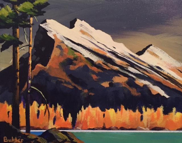 Twilight on Mount Rundle