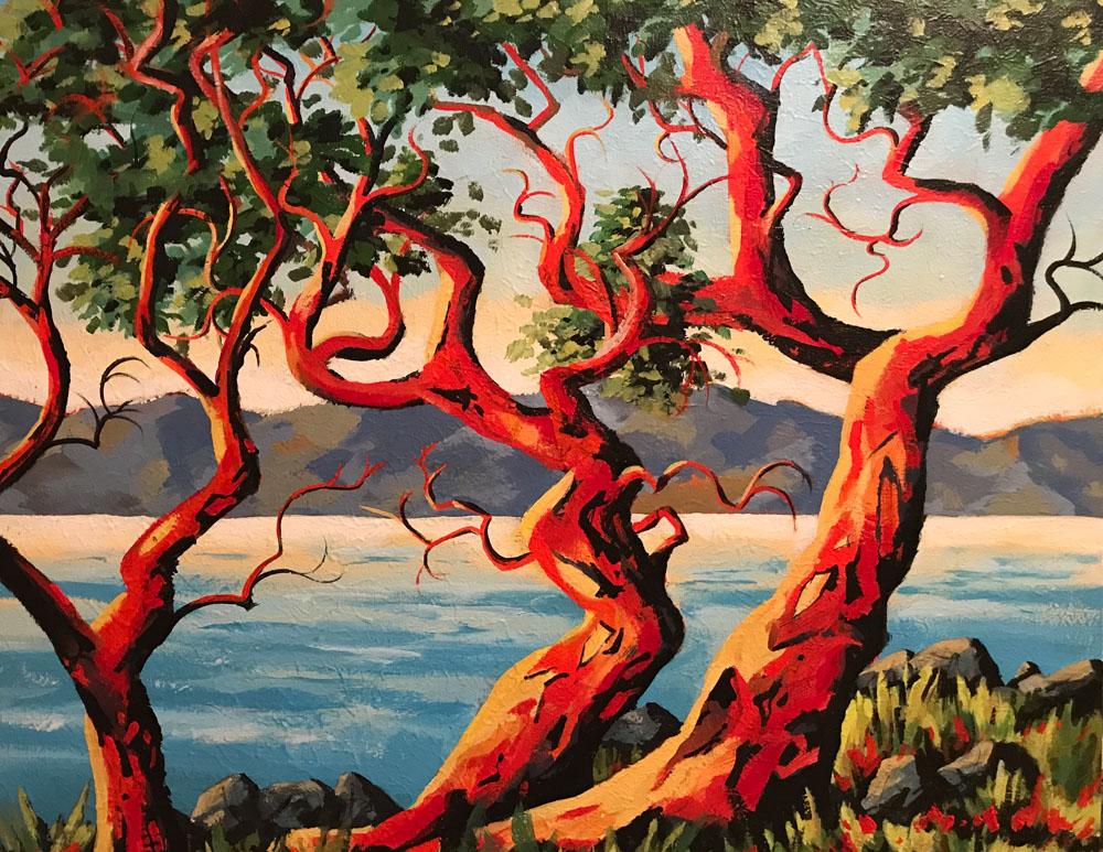 Dancing Arbutus Trees